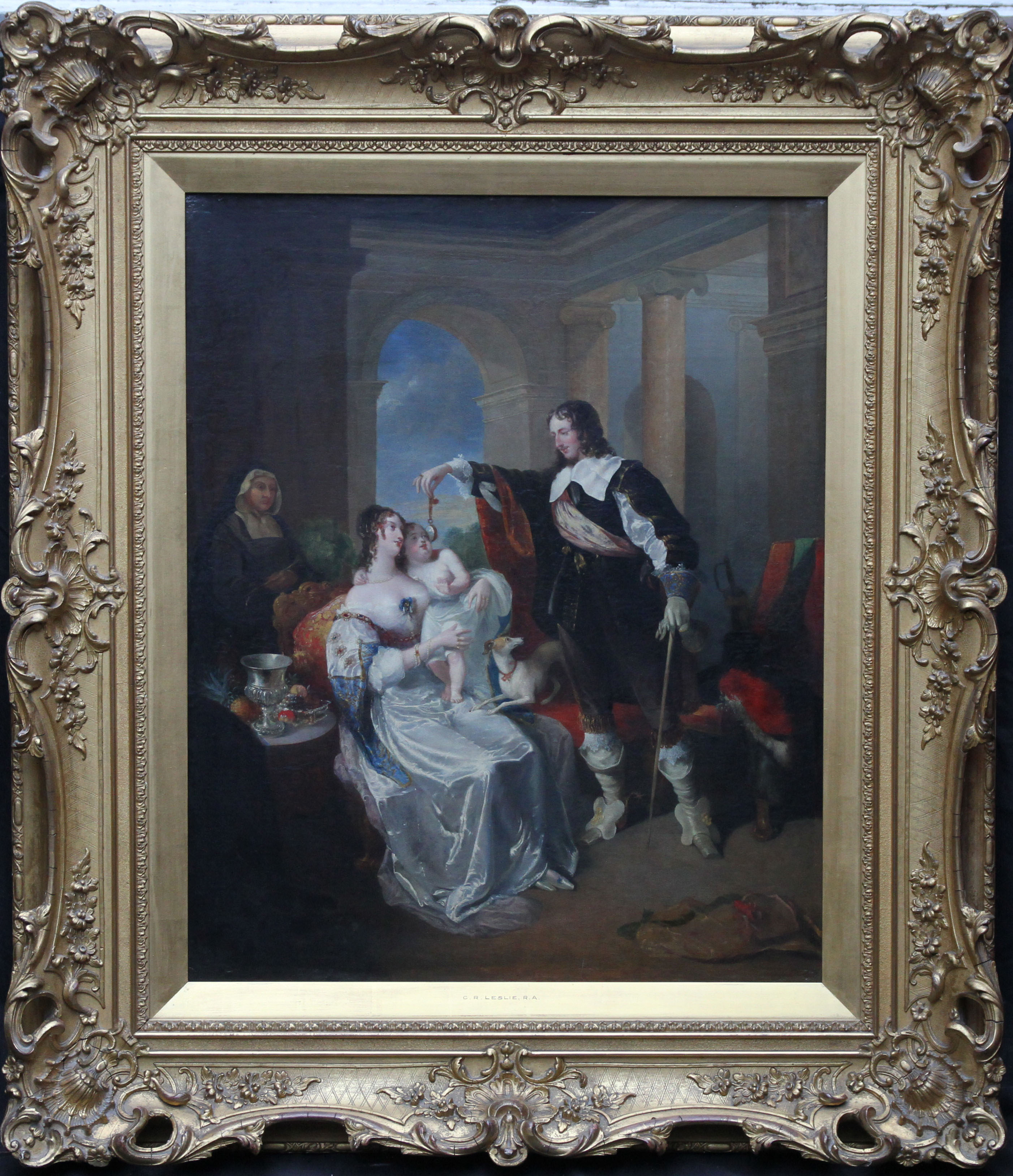 Charles Robert Leslie Happy Days Of Charles I Family Portrait Richard Taylor Fine Art