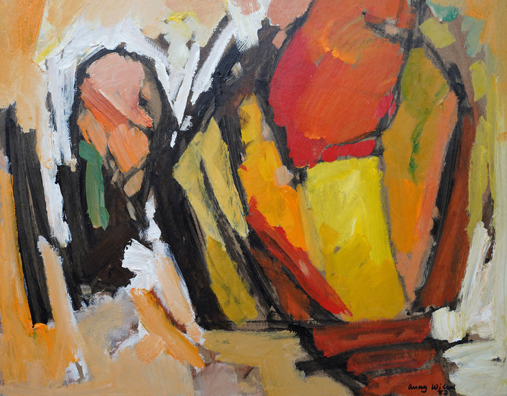 Abstract 1983 Orange Yellow by Frank Avray Wilson at Richard Taylor Fine Art