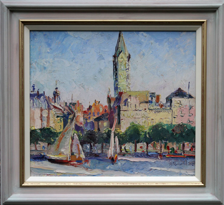 Hamburg Impressionist  landscape 1935 by  Alan Ian Ronald at Richard Taylor Fine Art