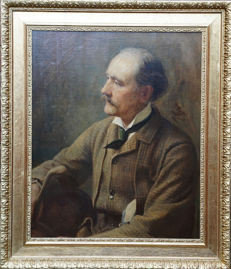 British Male Portrait by Alfred Fitzwalter Grace at Richard Taylor Fine Art