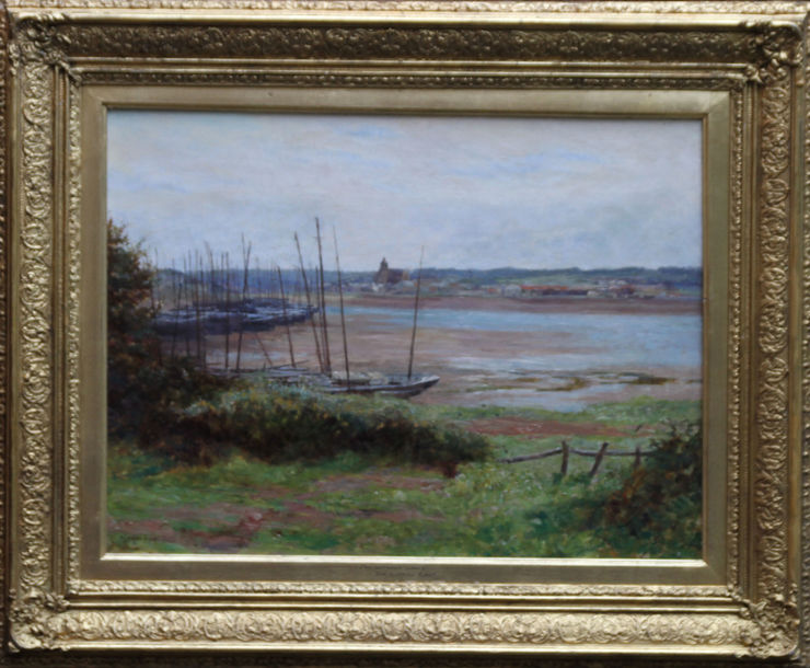 Hayle Cornwall Marine Art by Alfred East at Richard Taylor Fine Art