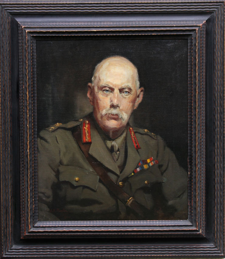 alice mary burton - portrait army officer - richard taylor fine art -framed