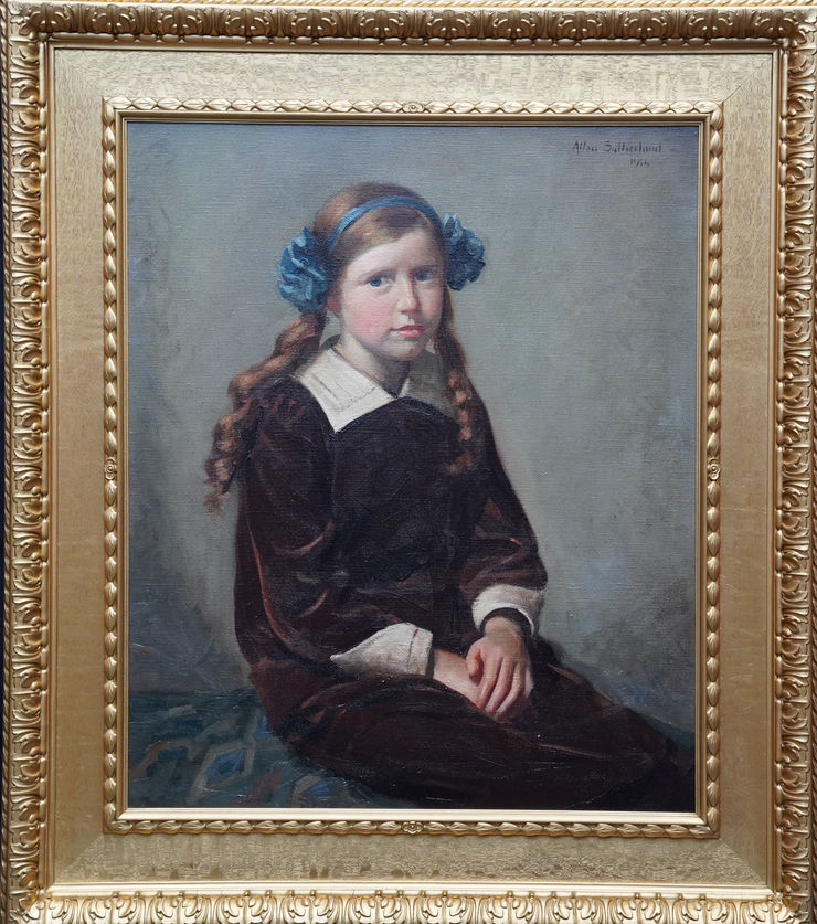 Scottish Portrait of a Young Girl by Allan Sutherland at Richard Taylor Fine Art