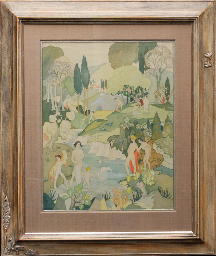 The Bathers by Ann Hayward at Richard Taylor Fine Art