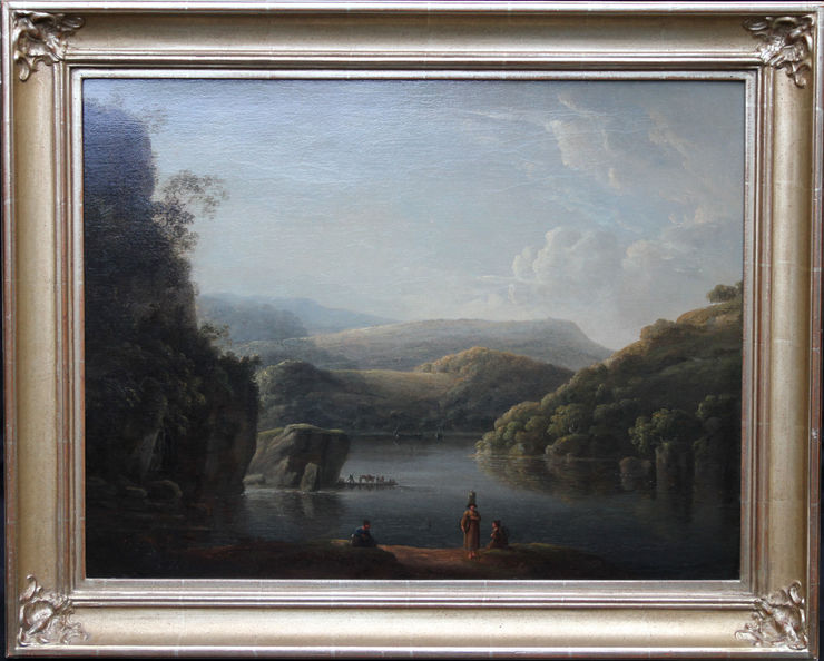 Glamorganshire from Britton Ferry by Anthony Devis at Richard Taylor Fine Art