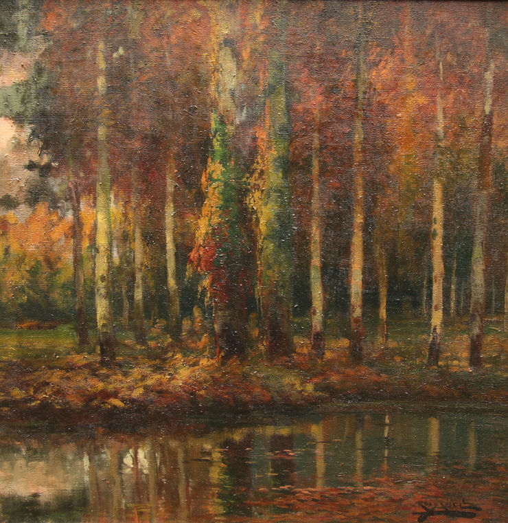 Impressionist Wooded Landscape by Antonio Ross Y Guell Richard Taylor Fine Art