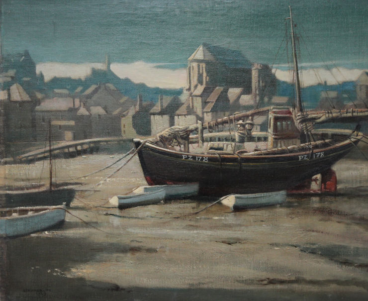 St Ives Harbour by Arthur Royce Bradbury Richard Taylor Fine Art
