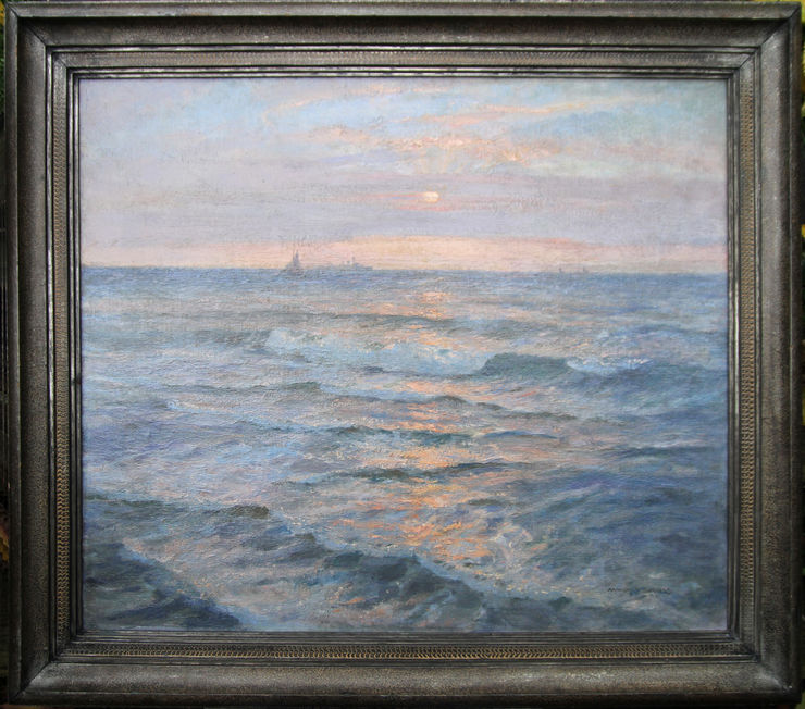 Sunset Seascape by Arthur James  Wetherall Burgess at Richard Taylor Fine Art