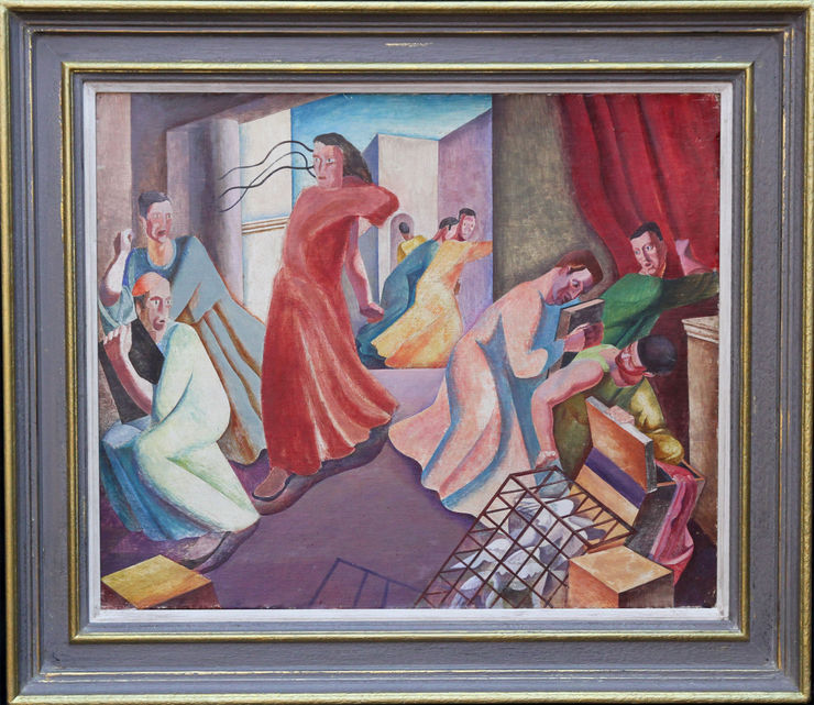 Christ Expelling the Money Changers by Augustus Lunn at Richard Taylor Fine Art