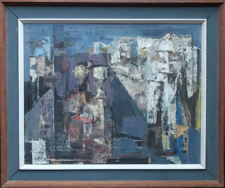 British Fifties Figurative Abstract by Austin Davies at Richard Taylor Fine Art