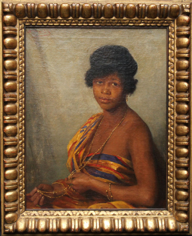 Portrait of Gold Coast Woman Scottish 1900 oil by Beatrice Bright at Richard Taylor Fine Art