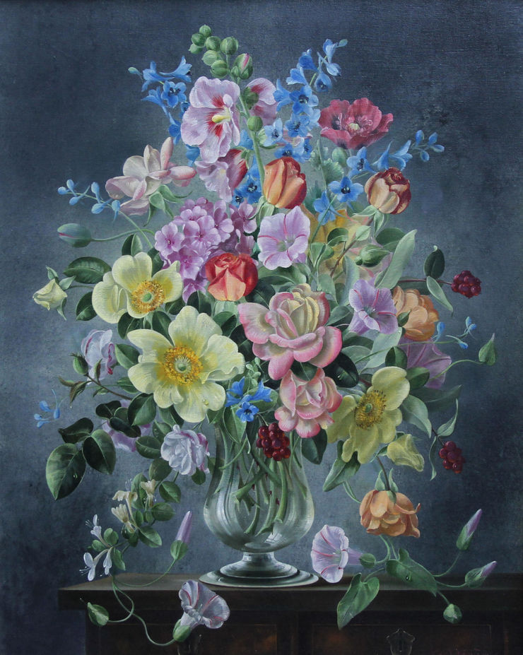 cecil kennedy - summer bouquet - richard taylor fine aart (1)