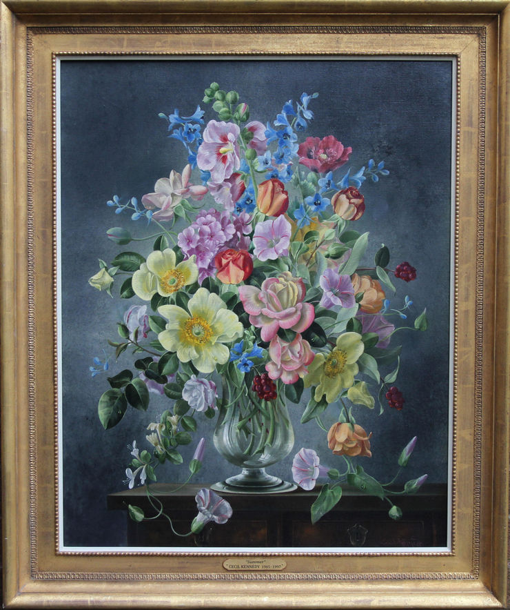 Summer Arrangement Floral art by Cecil Kennedy at Richard Taylor Fine Art