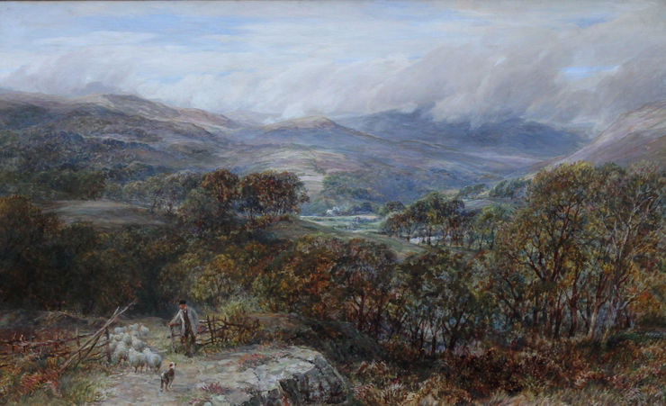 charles thomas burt - welsh landscape -  richard taylor fine art