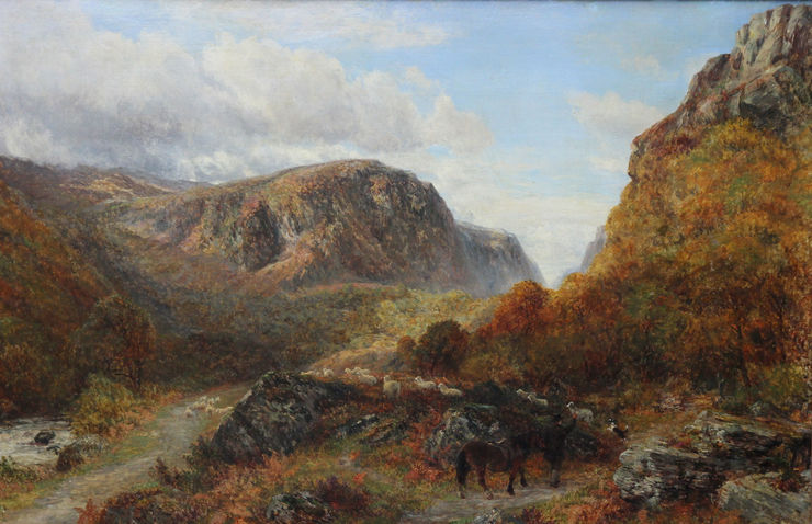 Welsh Landscape by Charles Thomas Burt Richard Taylor Fine Art