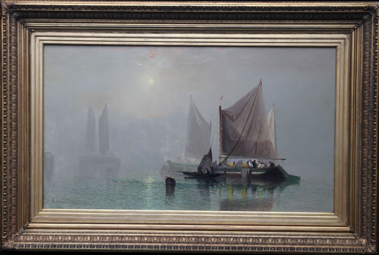 Victorian British Marine Evening Glow by Charles Webster  at Richard Taylor Fine Art