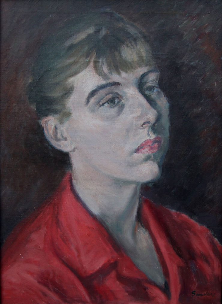 Female Portrait by Royal Academy artist Christopher Sanders Richard Taylor Fine Art