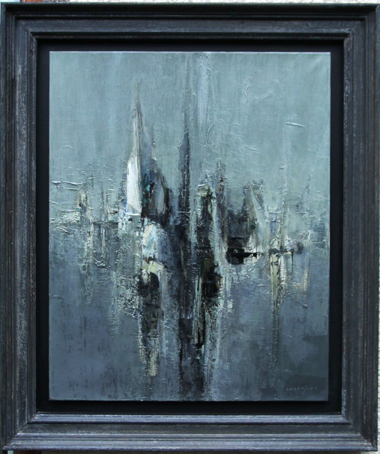 French Abstract seascape oil by Claude Garanjoud at Richard Taylor Fine Art
