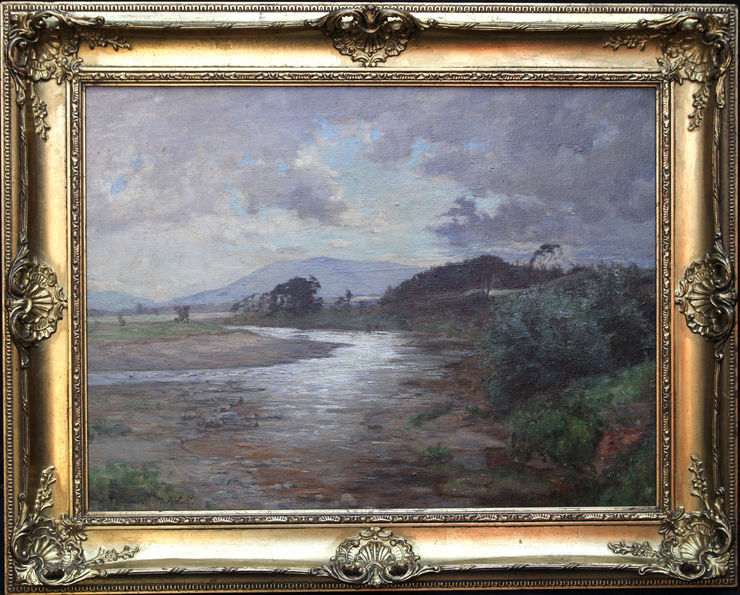 Impressionist Scottish River Landscape by Colin Gillespie Mitchell at Richard Taylor Fine Art
