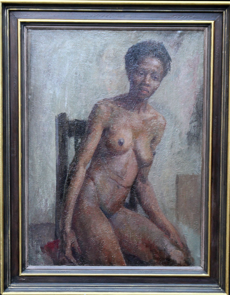 Seated Nude by Constance Anne Parker at Richard Taylor Fine Art