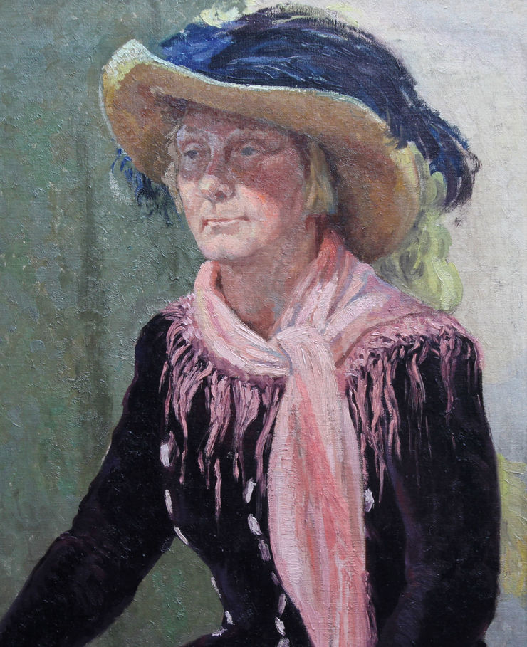 Portrait of a Lady in a Hat by Constance Anne Parker Richard Taylor Fine Art