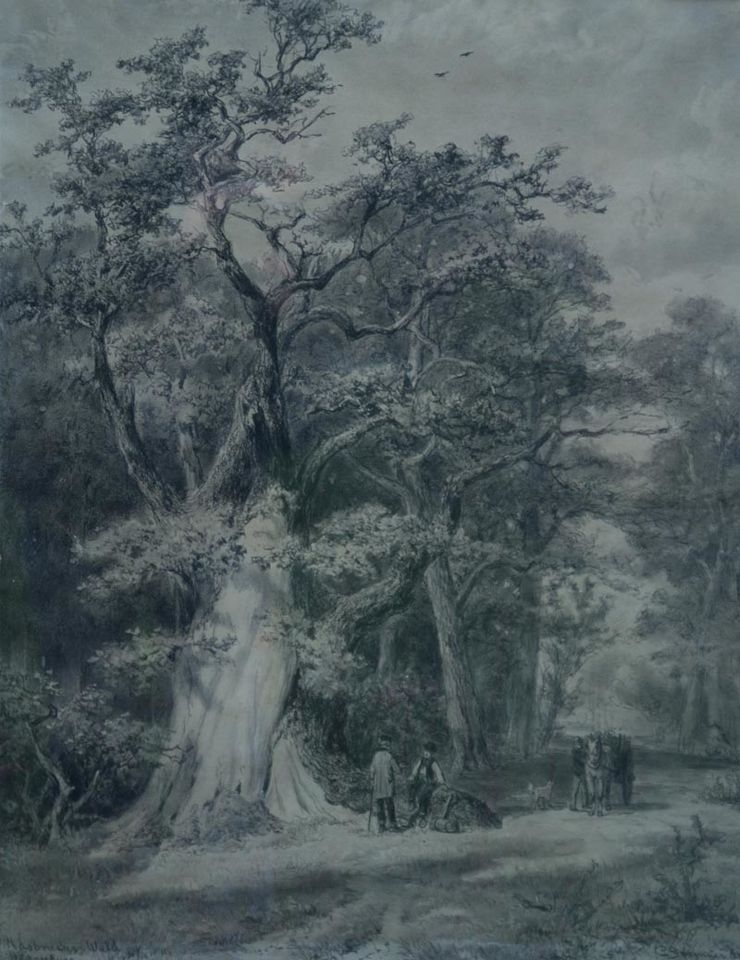 Hasbrucher Wald Dutch Old Master by Cornelius Springer at Richard Taylor Fine Art