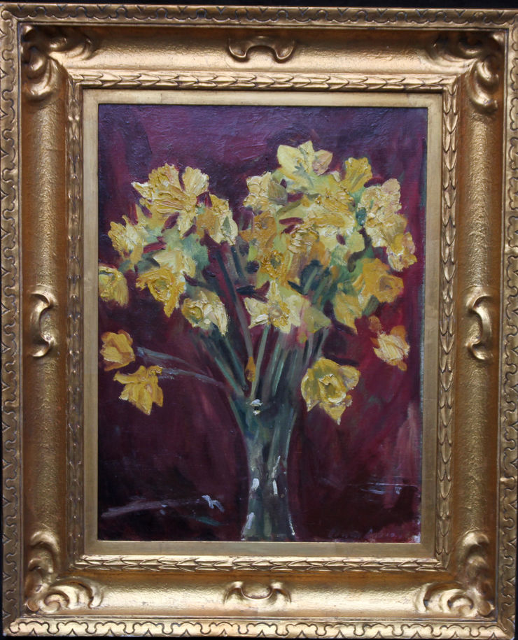 Art Deco Floral Daffodils by David Cowan Dobson at Richard Taylor Fine Art