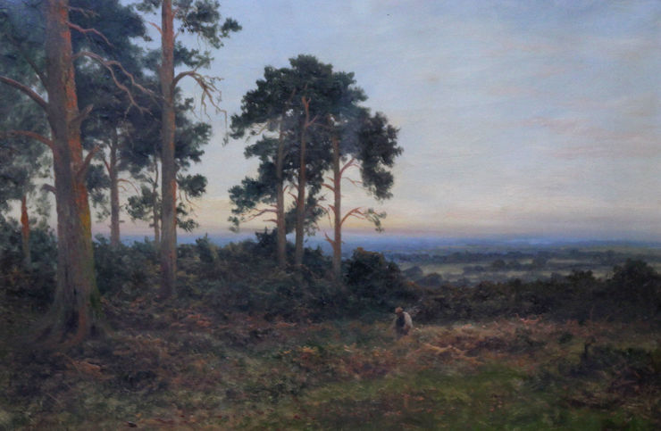 Close of Day British Landscape by Daniel Sherrin Richard Taylor Fine Art