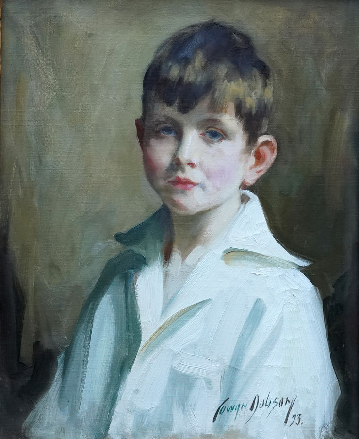 Art Deco Scottish Portrait of a Boy by David Cowan Dobson Richard Taylor Fine Art