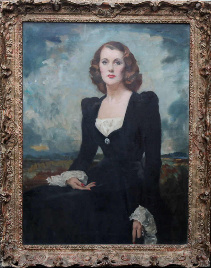 Portrait of a Lady Thelma Gilmour Smith by Scottish artist David Cowan Dobson at Richard Taylor Fine Art