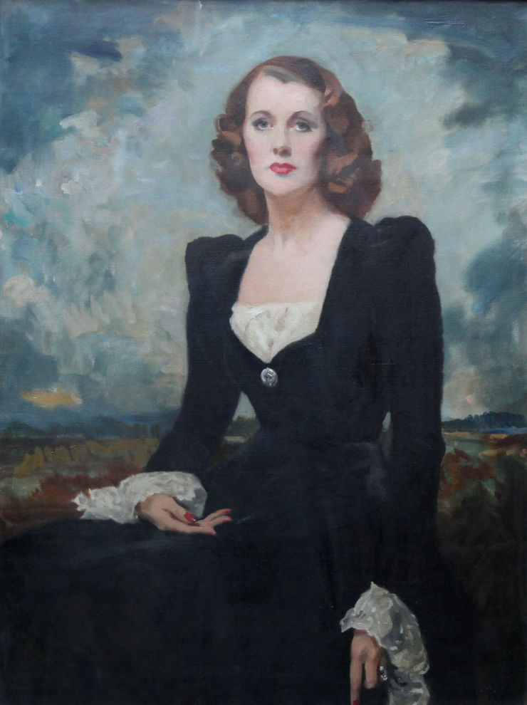 Portrait of Thelma Gilmour Smith by David Cowan Dobson Richard Taylor Fine Art