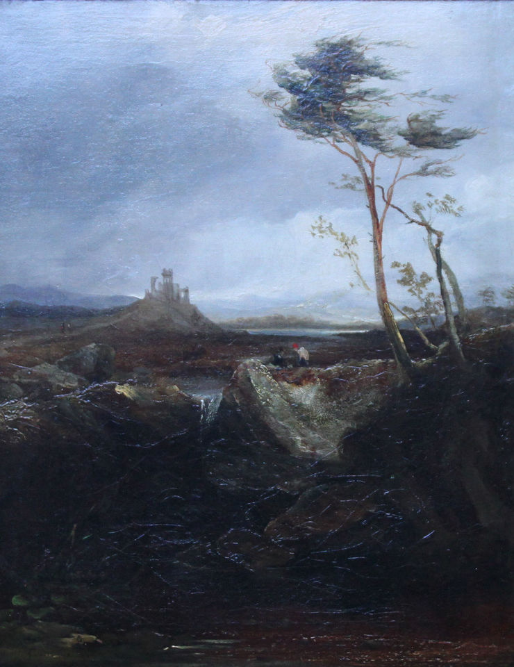 Welsh Landscape with Ruins by David Cox the Elder  Richard Taylor Fine Art