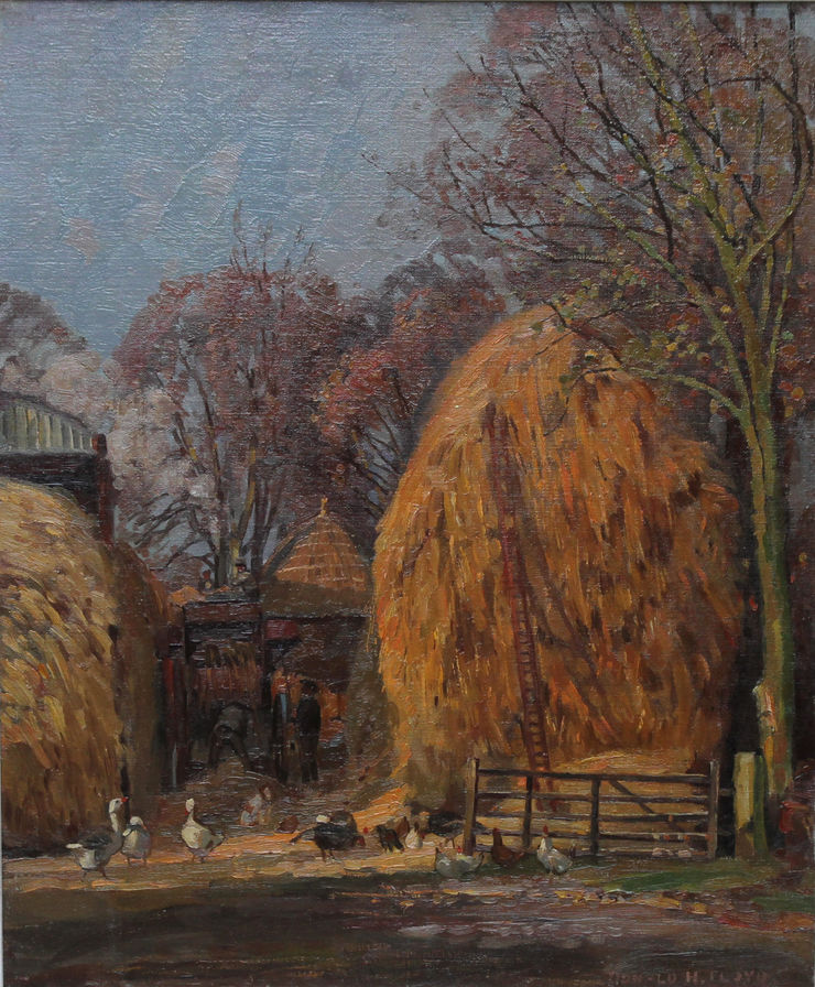 Farm Landscape by Donald H Floyd Richard Taylor Fine Art