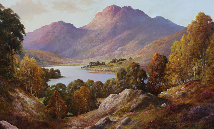 Loch Nevis Scottish Landscape by Douglas Falconer Richard Taylor Fine Art
