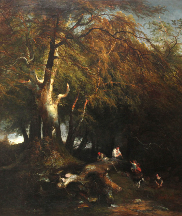Wooded Victorian Landscape by Edward Charles Williams Richard Taylor Fine Art