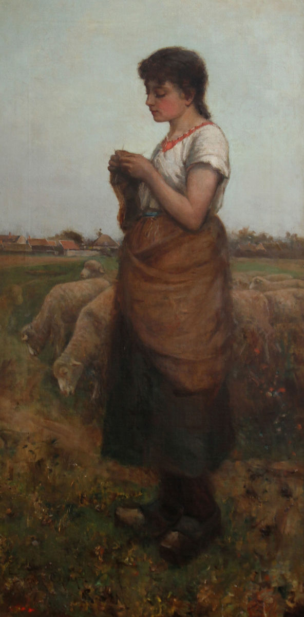 The Shepherdess by Edwin Sherwood Calvert Richard Taylor Fine Art