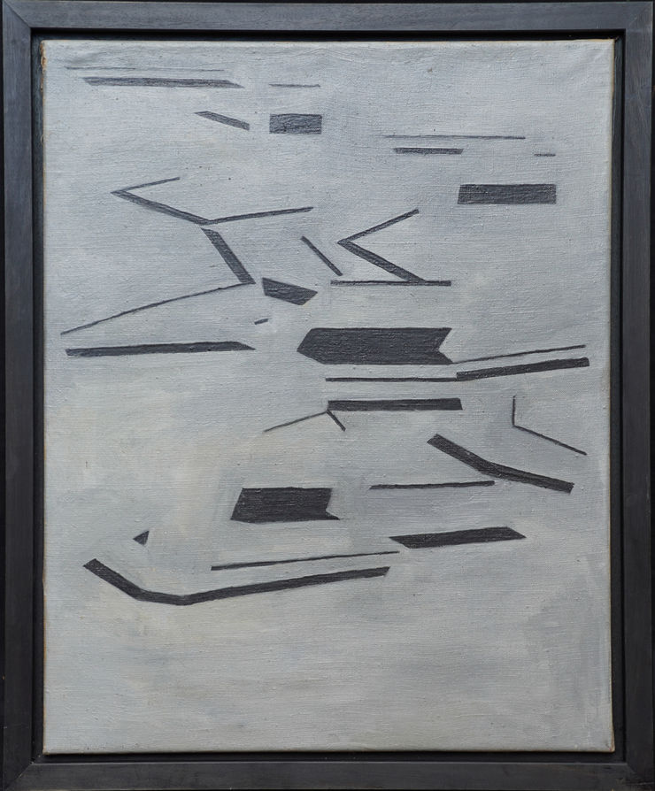 British Conceptual Abstract by Penelope Ellis at Richard Taylor Fine Art