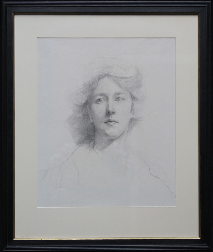 Edwardian Self Portrait Drawing by Estella Canziani at Richard Taylor Fine Art