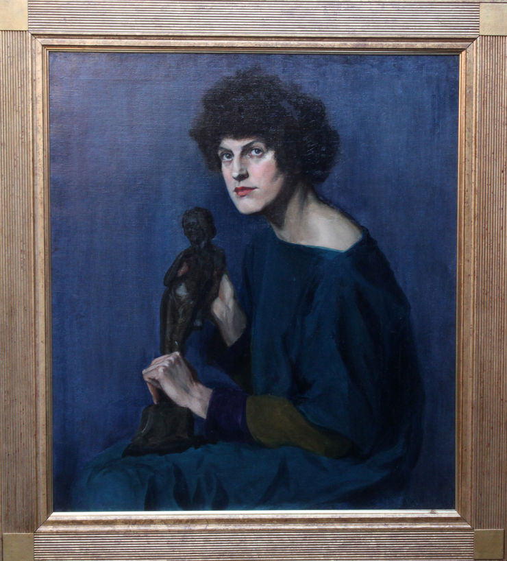 Scottish Self Portrait by Euphans Hilary Strain at Richard Taylor Fine Art