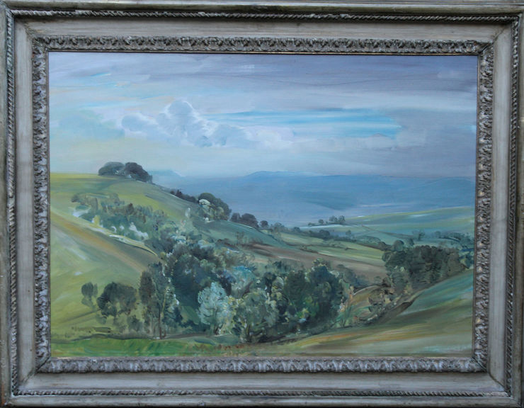 Trow Hill Sidmouth Devon by Evelyn Cheston at Richard Taylor Fine Art