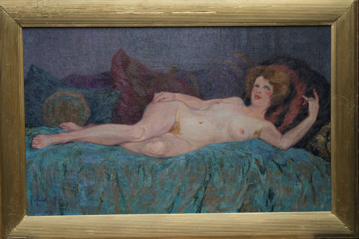 French Impressionist Reclining Nude by Fernand Pinal at  Richard Taylor Fine Art