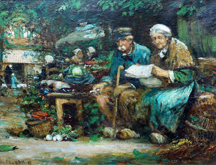 The Couple by Flora MacDonald Reid Scottish female artist  Richard Taylor Fine Art