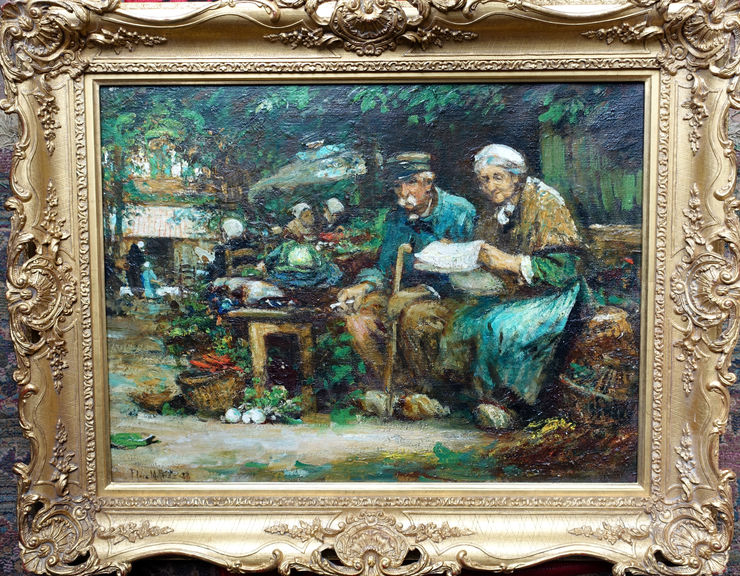 The Couple by Flora MacDonald Reid at Richard Taylor Fine Art