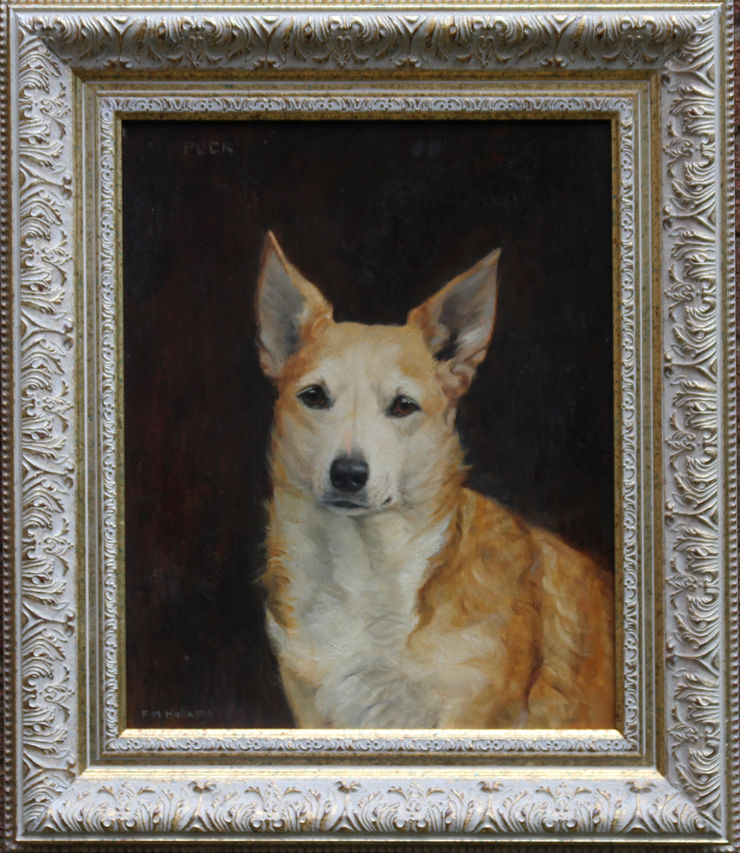 British Dog Art by Florence Mabel Hollams at Richard Taylor Fine Art