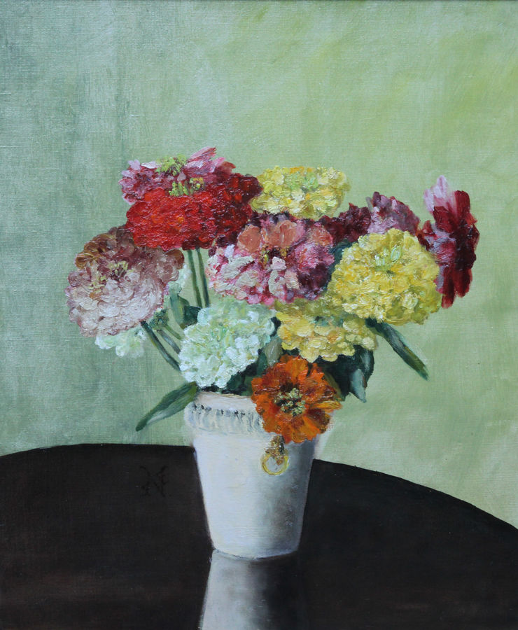 Zinnias by Frances Evelyn North Richard Taylor Fine Art