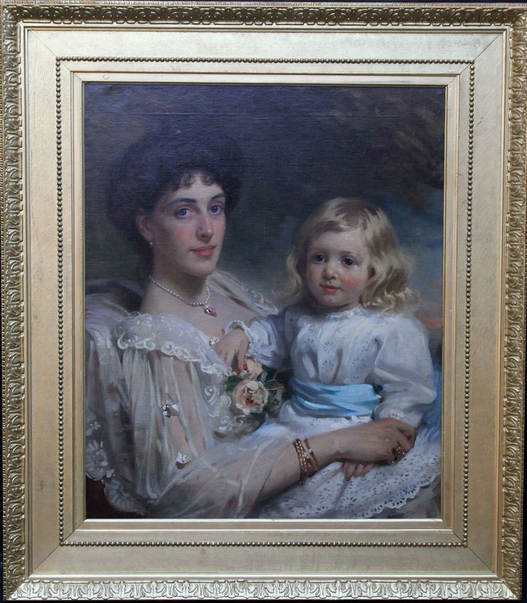 Edwardian Portrait of Selina and Richard by Frank Brooks at Richard Taylor Fine Art