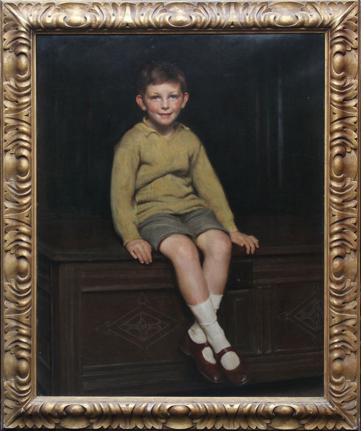 Portrait of a Boy by Frank Percy Wild at  Richard Taylor Fine Art