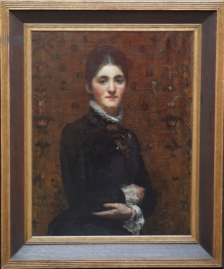 Portrait of a Lady by Frederick Samuel Beaumont at Richard Taylor Fine Art