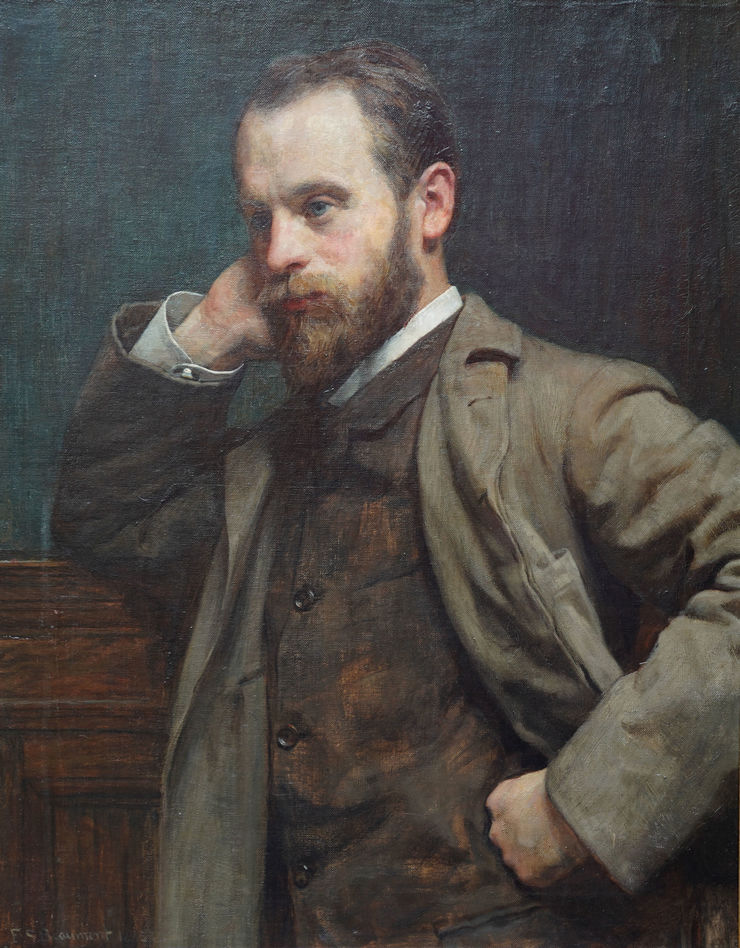 Victorian Male Portrait by Frederick Samuel Beaumont Richard Taylor Fine Art