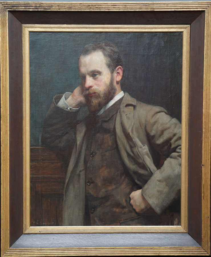 Portrait of a Gentleman by Frederick Samuel Beaumont at Richard Taylor Fine Art